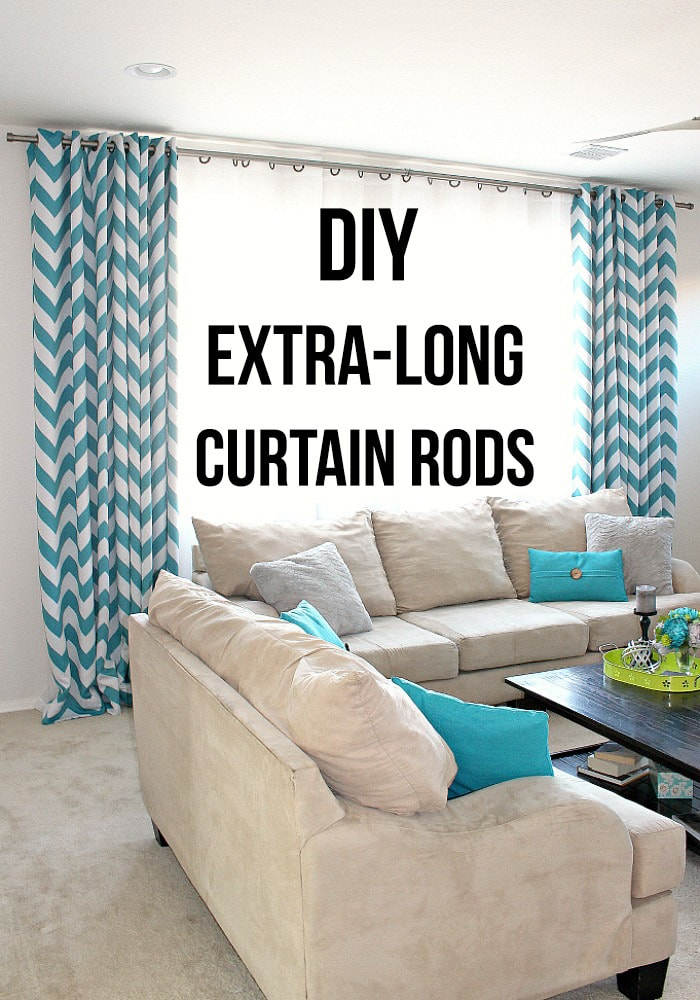 Diy Curtain Rods Using Electrical Conduit For Extra Long Windows