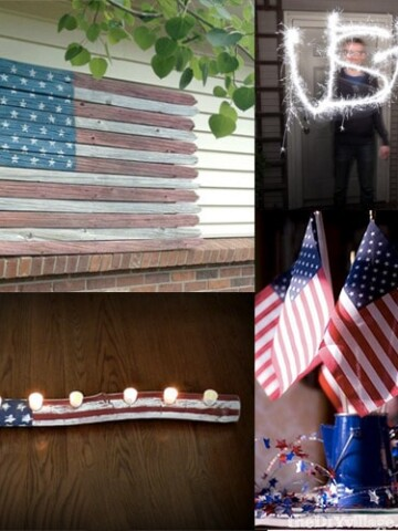DIY 4th of July decoration ideas to add bring the patriotic spirit to your home decor. These easy red white and blue patriotic ideas will add the perfect touch to your Memorial Day or Independence Day celebrations.