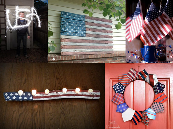 Collage of Fourth of July Decoration ideas