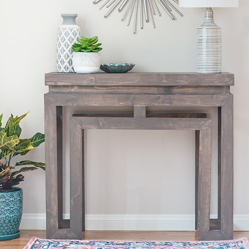 DIY Console Table – Ballard Designs Inspired