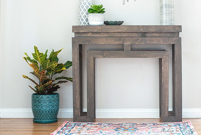 DIY console table based on Ballard designs.