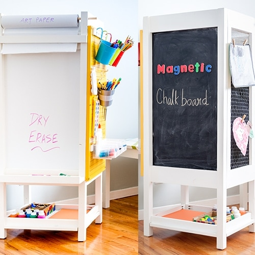 DIY Kids Art Station