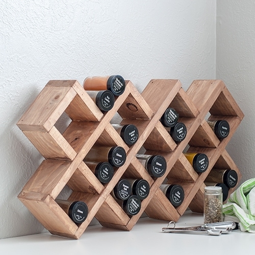 DIY Spice Rack – How To Build Using Scrap Wood