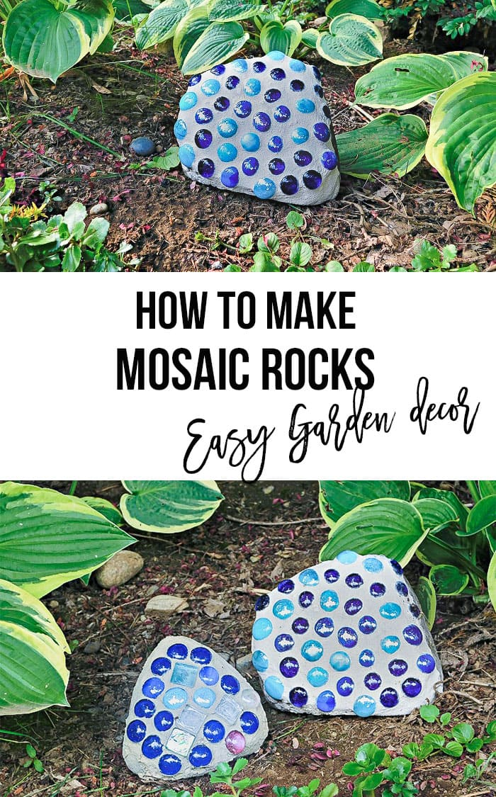 How to make mosaic rocks - collage of pictures with text overlay