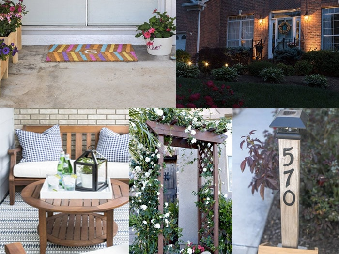 Collage of projects and ideas to improve curb appeal
