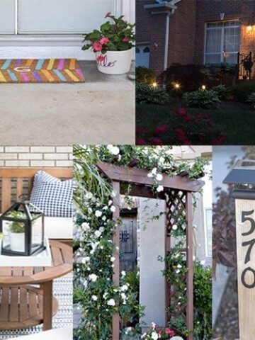 These ideas to improve curb appeal are perfect any experience level. Add curb appeal to your home with these project ideas. From nighttime curb appeal tips and tricks to decorating a small porch on a budget!