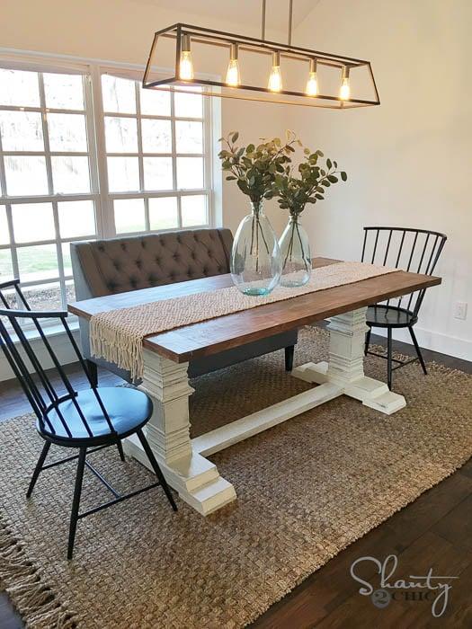DIY pedestal dining table