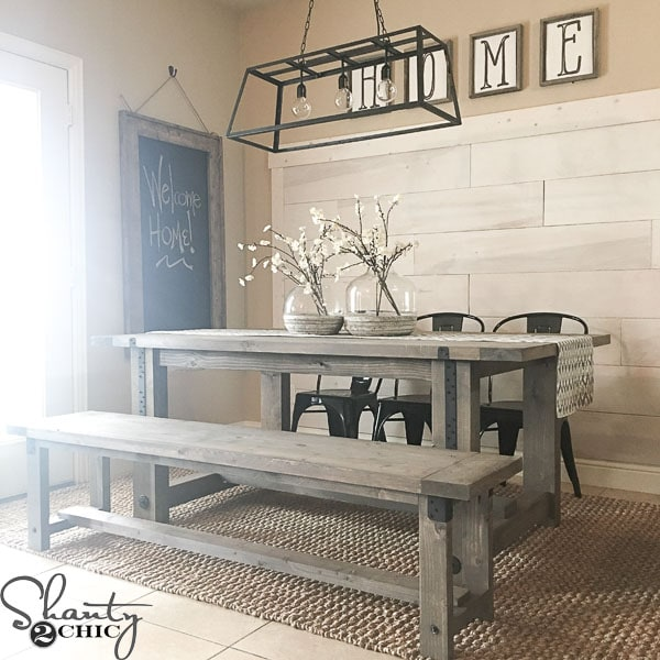 DIY industrial farmhouse table