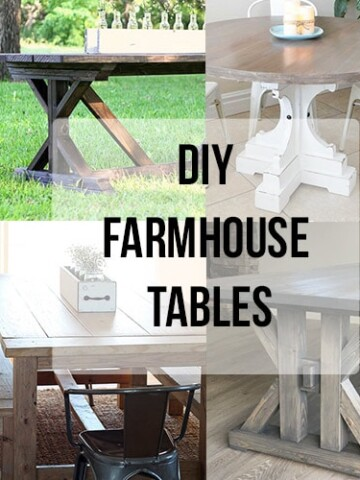 If you are looking for simple but amazing DIY Farmhouse Tables to add to your space, look no further than these amazing DIY project ideas!