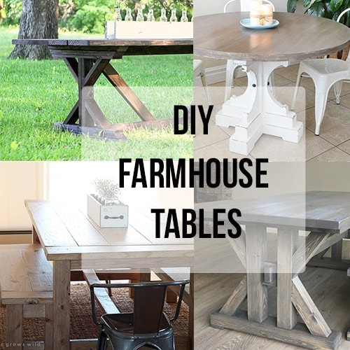 20 Gorgeous DIY Farmhouse Table Ideas
