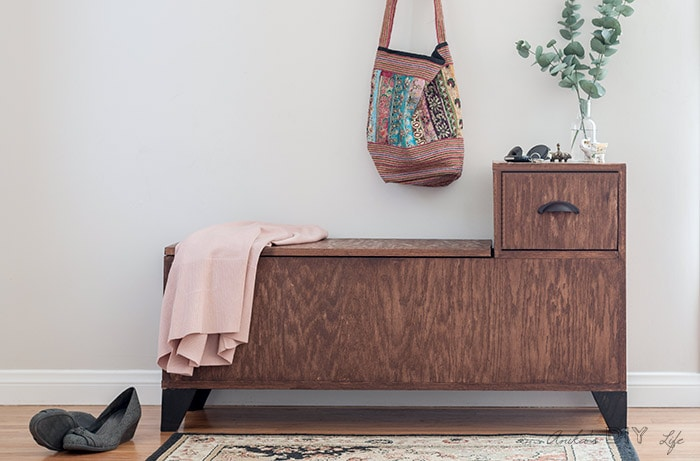 Surprising Diy Entryway Bench With Storage Wooden Storage Bench With Short Links Chair Design For Home Short Linksinfo