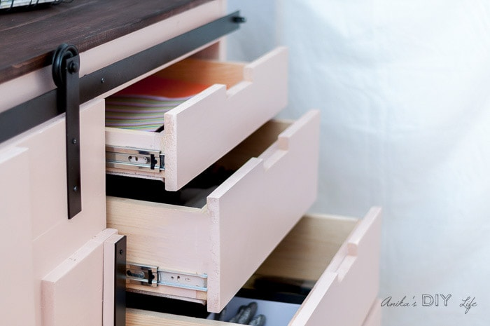 3 drawers in a cabinet built perfectly functional