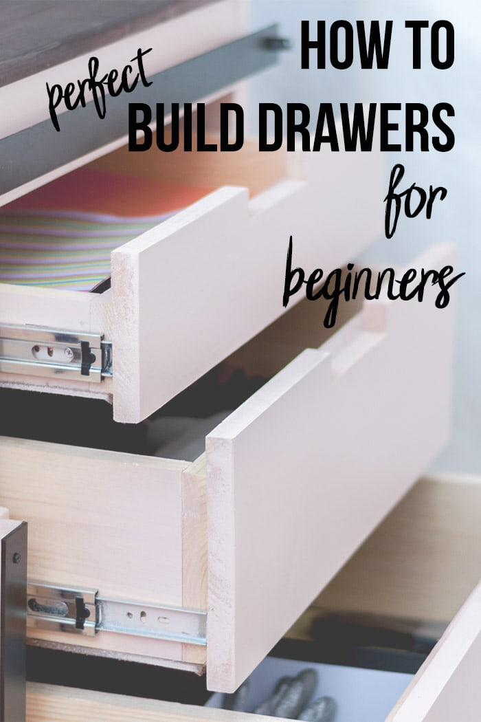 Drawers with text overlay - How to build drawers for beginners