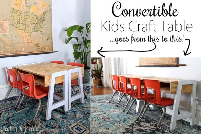 Convertible DIY kids table design