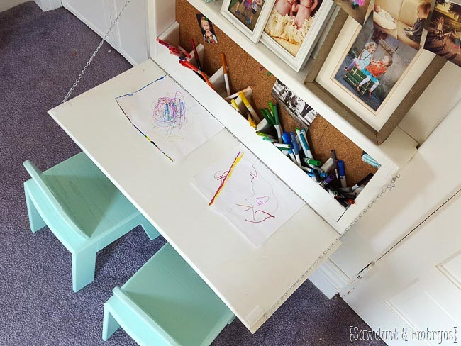 kids secretary table