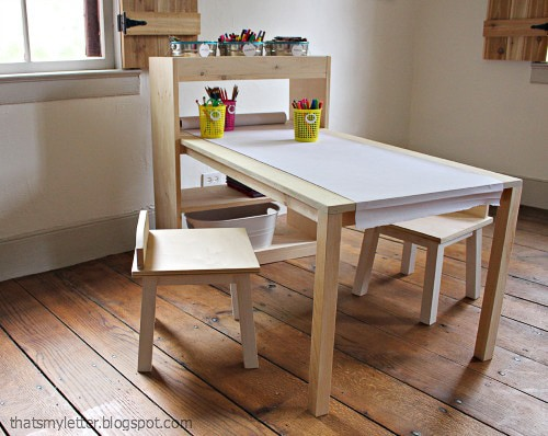 DIY kids table art center
