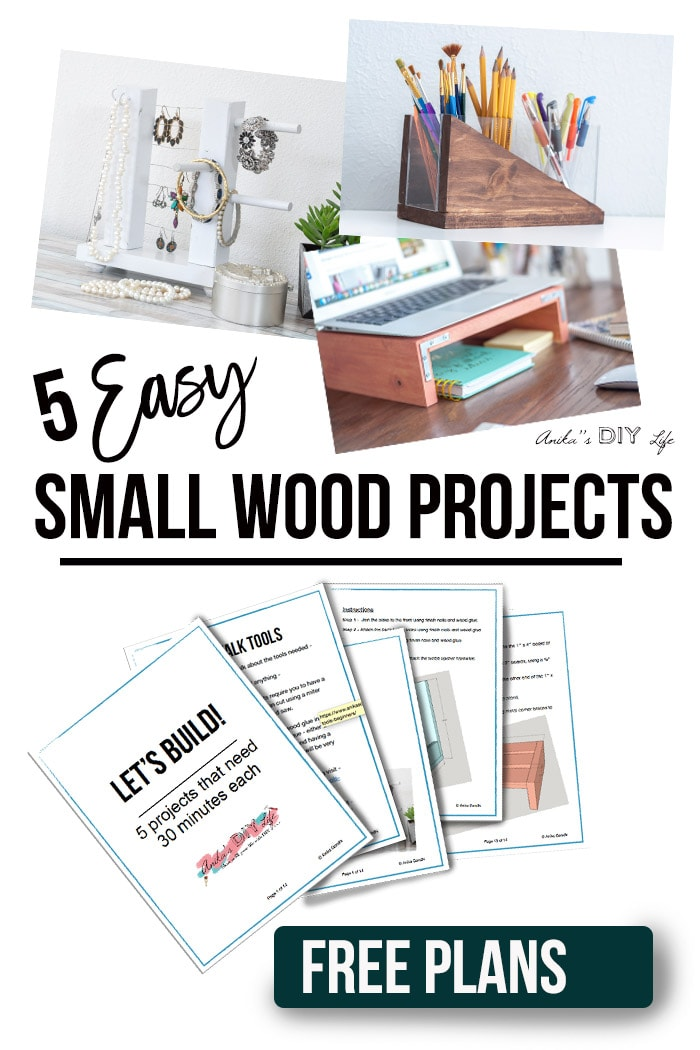 5 Easy Small Wood Projects In 30 Minutes Or Less Anika S Diy Life