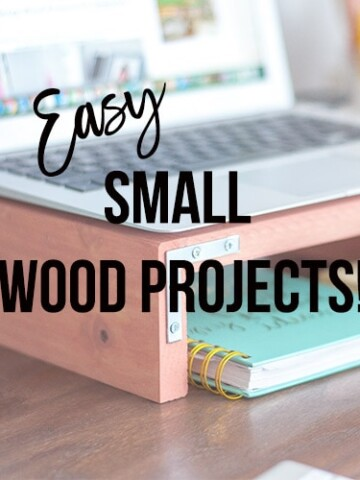 These 5 easy small wood projects use little time and basic tools! They make great woodworking projects for kids or handmade gifts for anyone on your list!