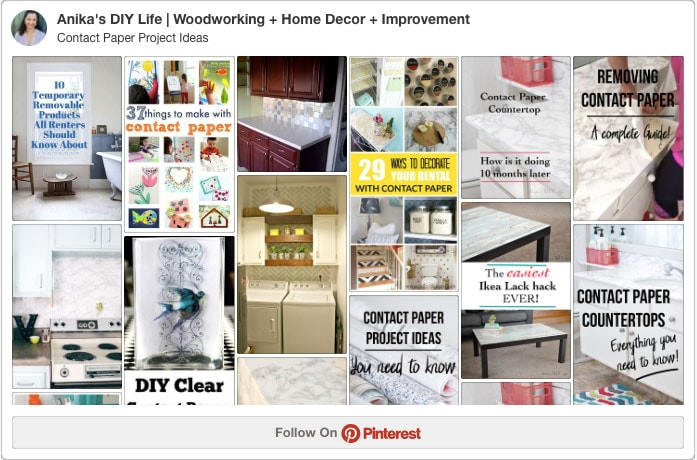 Pinterest board for contact paper project ideas