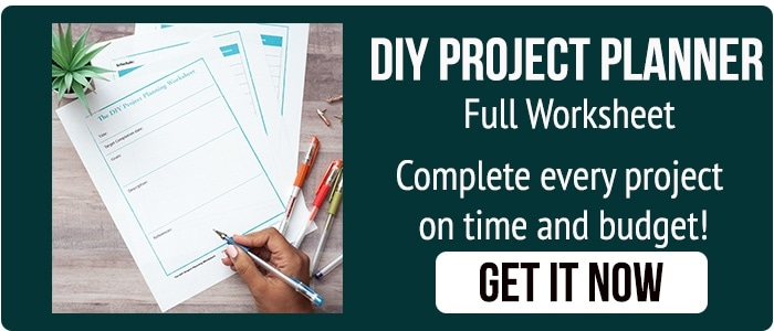 DIY Project planner with button to download.
