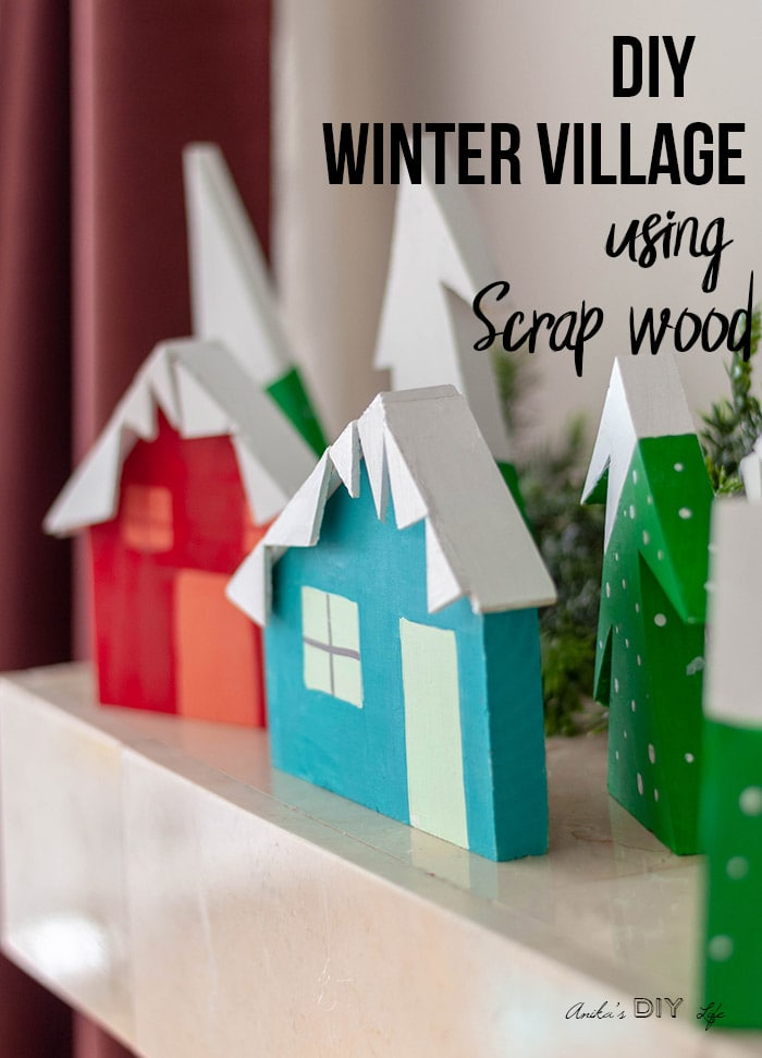DIY Christmas Village using scrap wood