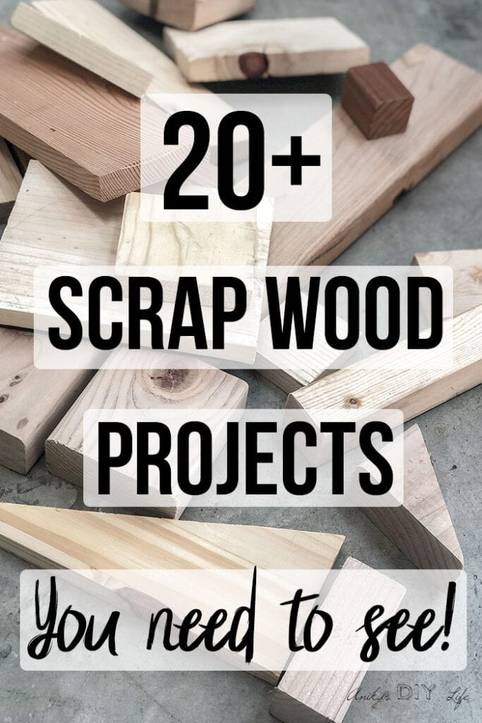 scrap wood on floor with text overlay - easy scrap wood projects