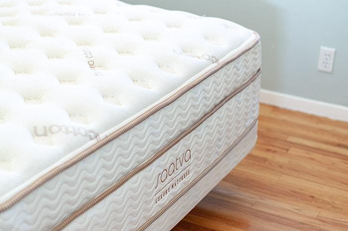 Close up Saatva mattress