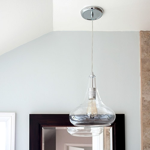 Learn how to easily convert recessed light to pendant light with this step by step tutorial. This is a 5 minute update to convert canned lights to pendant.