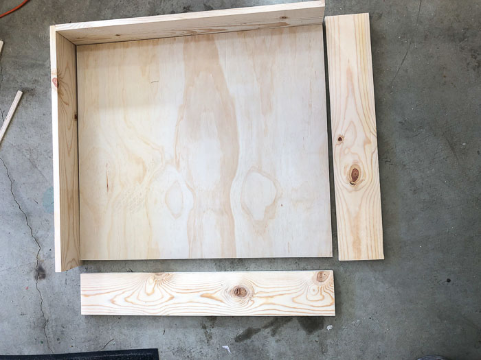 building the box for the under bed storage