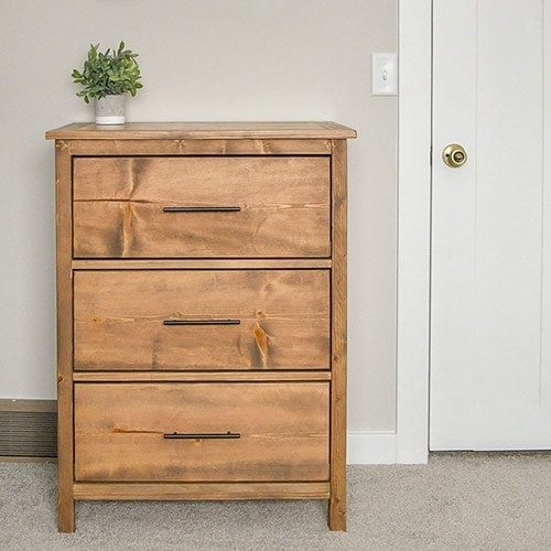 Easy 3-Drawer DIY Dresser