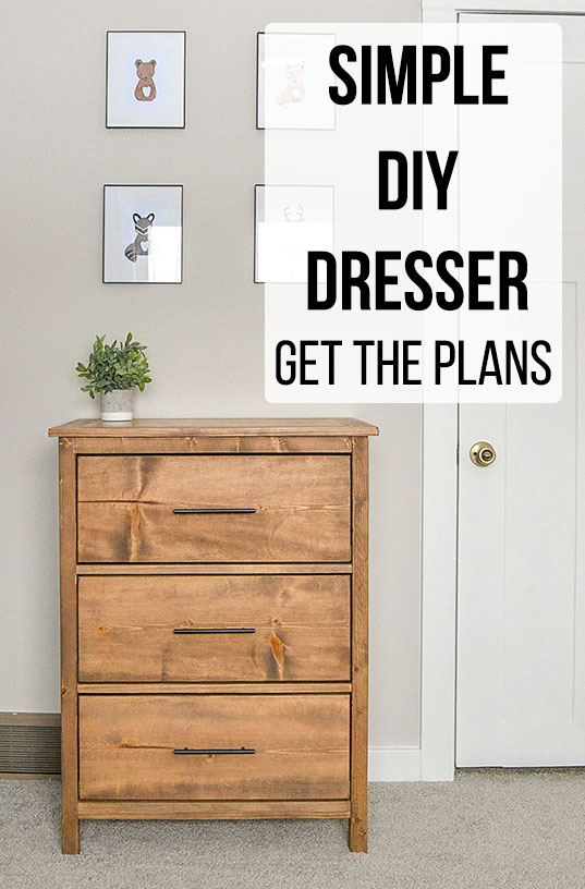 Easy 3 Drawer Diy Dresser With Plans