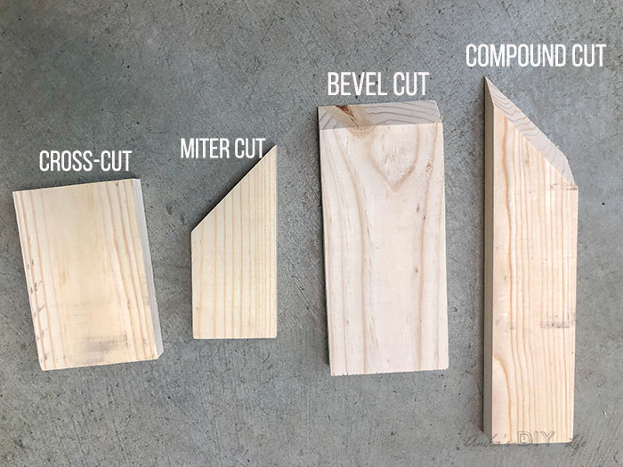 The 4 types of miter saw cuts