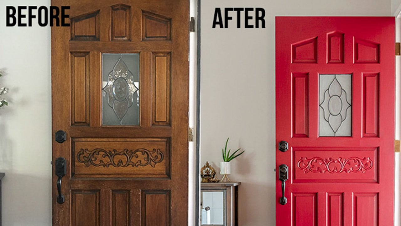 How To Paint A Front Door Without Removing It The Lazy Way