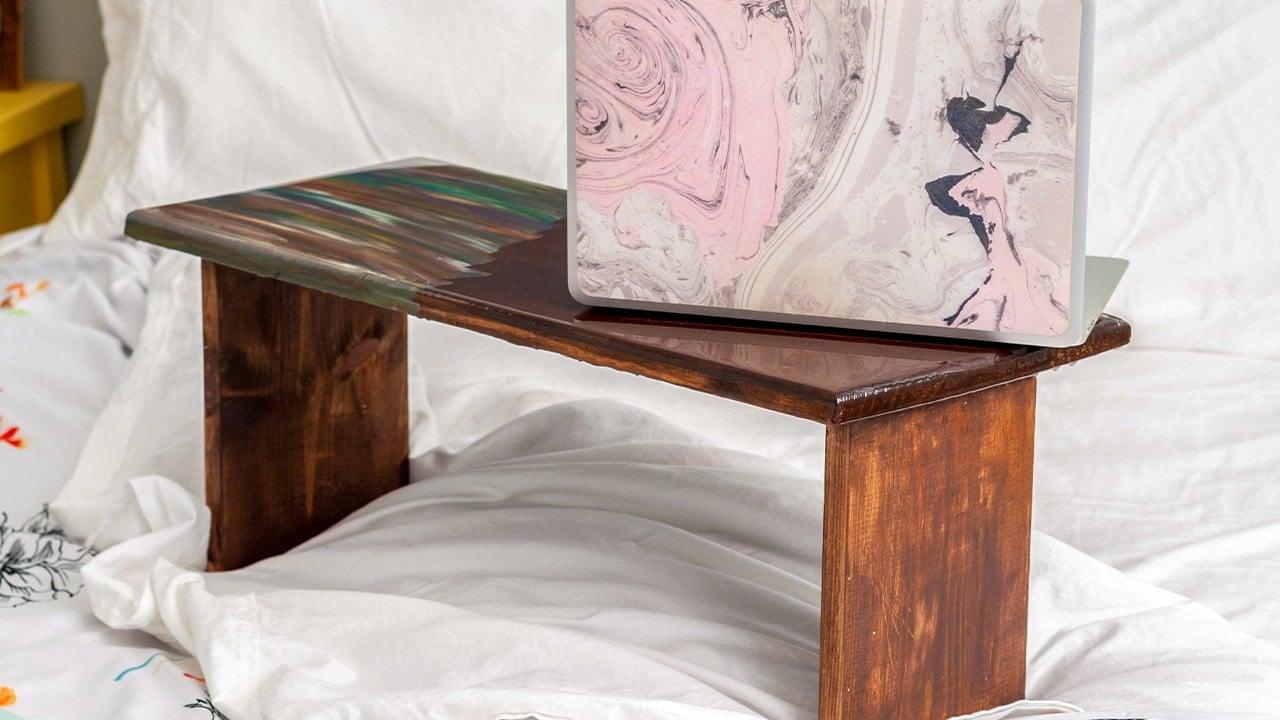 DIY Lap Desk With Epoxy Resin Top - Anika's DIY Life