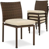 Outdoor Patio Wicker Chairs w/Cushions