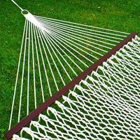 Woven Hammock with wood spreader