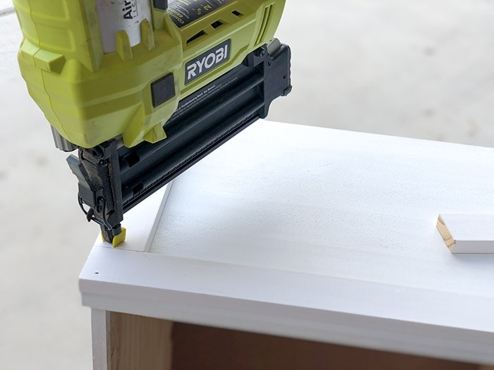 Attaching trim to Ikea Rast dresser