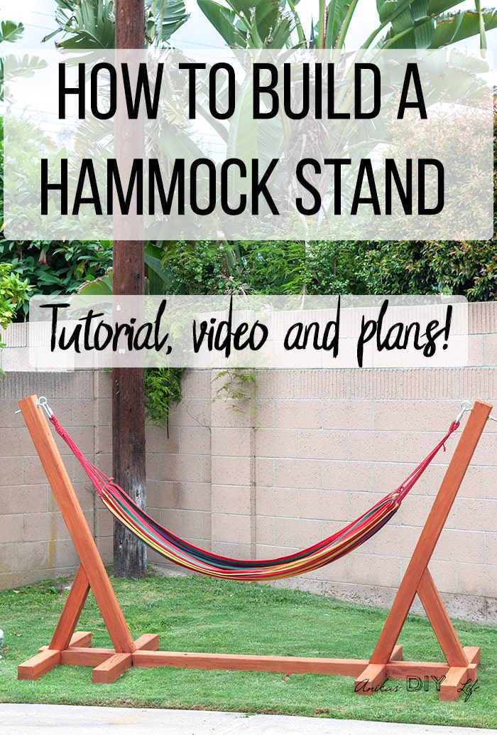Hammock Stand Designs : Easy diy hammock stand using tools full tutorial video and plans