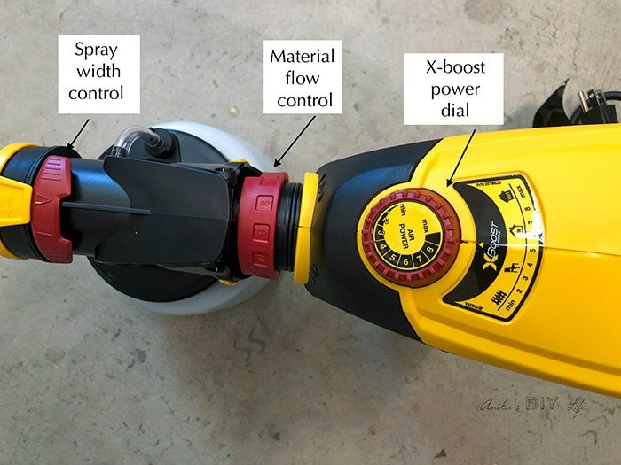 Parts of a FLEXiO paint sprayer. How to setup to use for painting a shed
