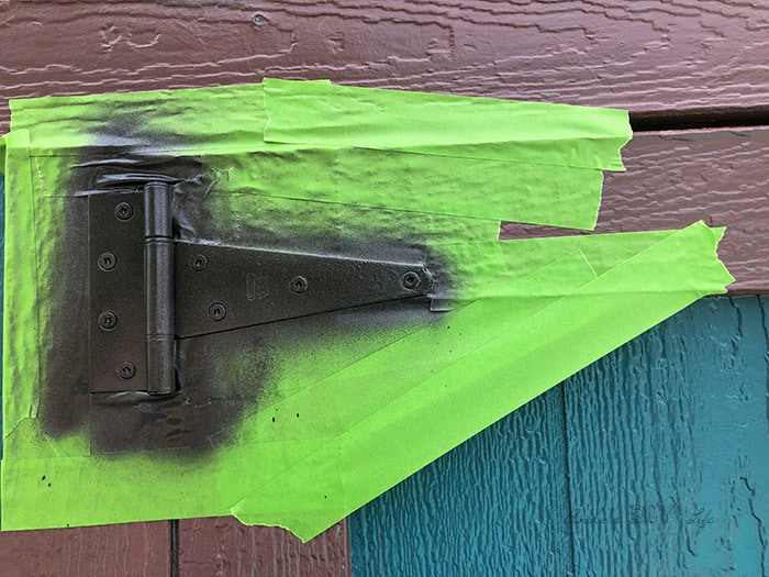 Door hardware painted without removing it.
