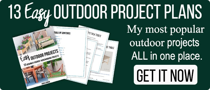 Button for 13 DIY Outdoor projects ebook - get easy beginner friendly project plans all in one place