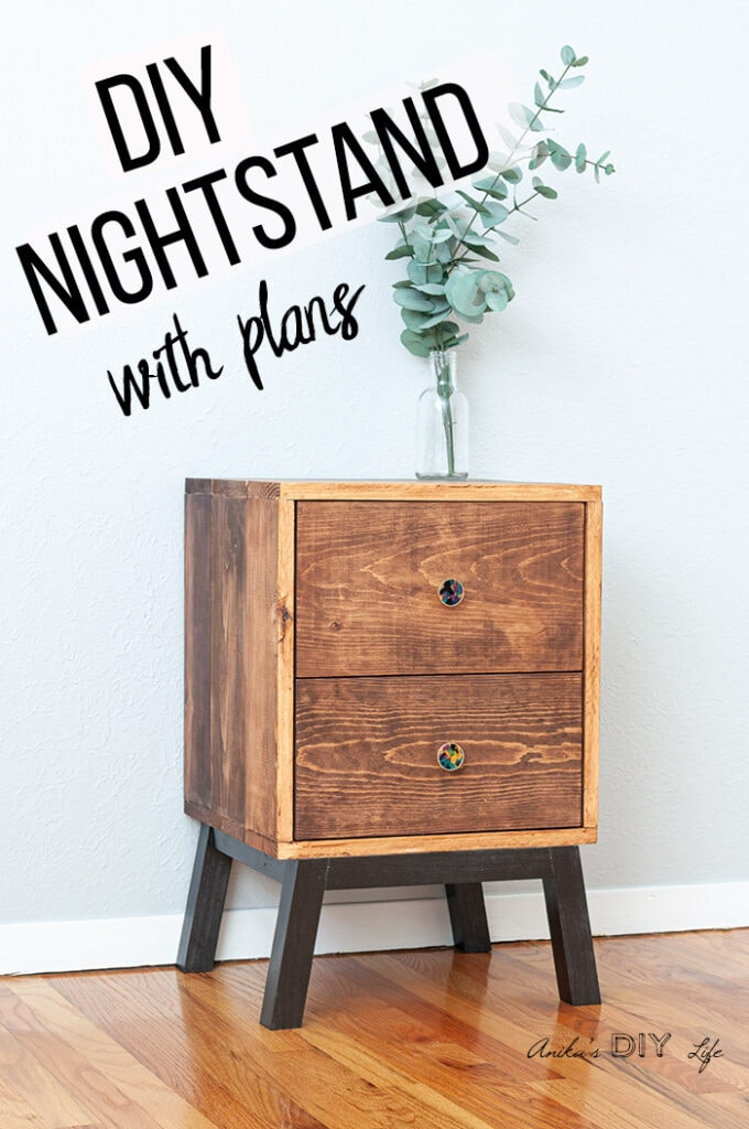 How To Make An Easy Diy Nightstand With Drawers Plans And Video