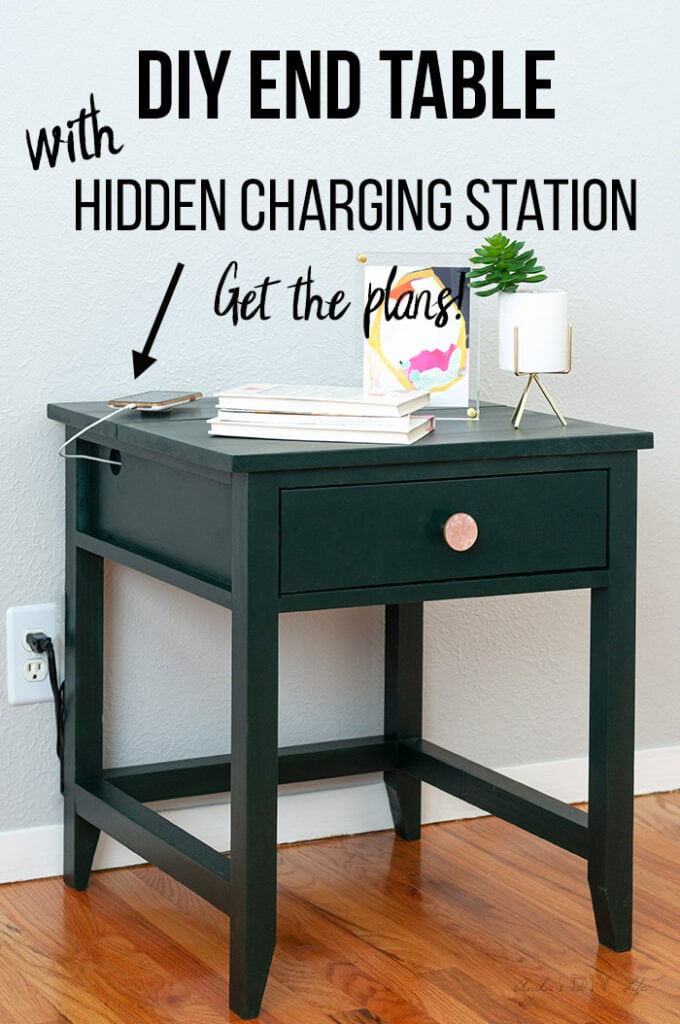 Diy End Table With Charging Station Anika S Diy Life
