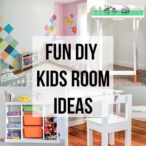 DIY kids room ideas to inspire you to create a fun and adorable space! See Budget-friendly kids room decor ideas, DIY kids room furniture, paint and more!