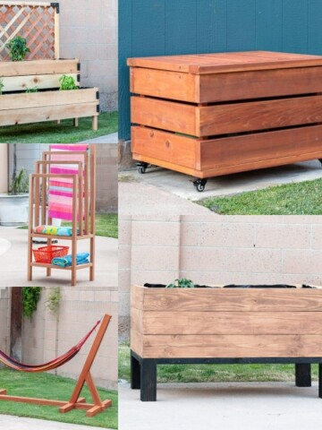 image collage of outdoor project ideas