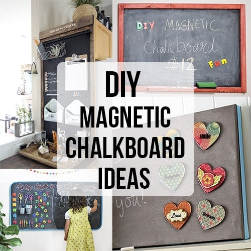 These 18 DIY magnetic chalkboard ideas will inspire you to create your own special display wall, organization or a place for kids to doodle and have fun.