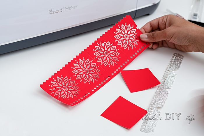 Paper cut on the cricut maker to make DIwali luminaries