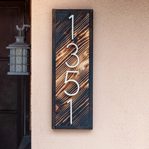 How To Make An Easy Wooden DIY House Number Sign