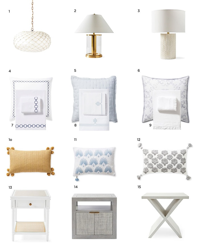 collage of coastal inspired guest room ideas