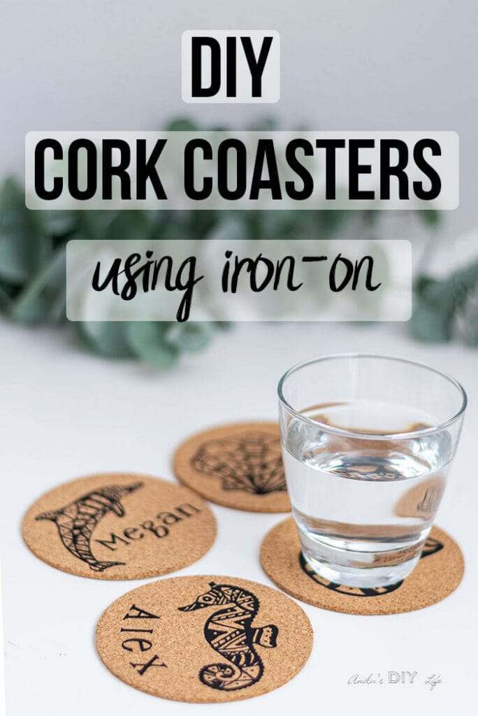 How To Make Personalized Cork Coasters Using Cricut Anika S Diy Life
